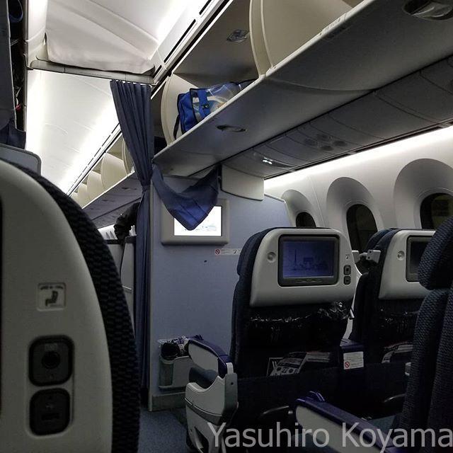 搭乗。ようやく日本へ。