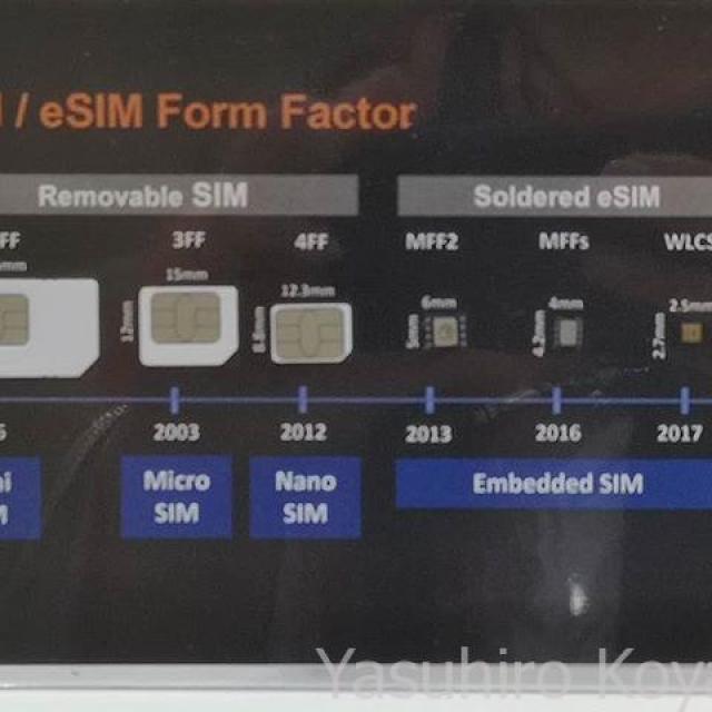 eSIMで競合はおらんなあ、と語るジェムアルトはん。しかしeSIMは小さいね。