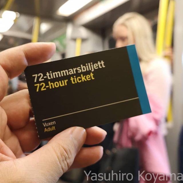 単なる厚紙かと思いきやNFCチップ入りの72時間乗り放題チケット