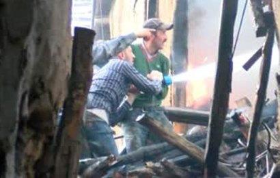 Köyde çıkan yangında 5 küçükbaş öldü