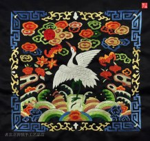 Qing-Dynasty-Patchwork-(With-picture-of-a-crane)