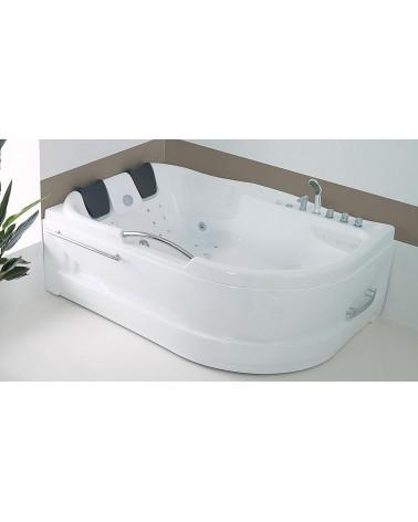 baignoire balneo d angle 2 places pas cher dublo hydromassante 180 x 130 x 62 cm