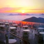 朝焼けの雲海テラス