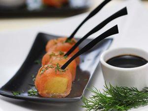 Vino Español 1 - Kozinart: taquitos de salmón