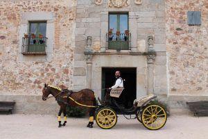 Monasterio monsalud carroza para novios