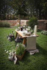 altar minimalista para una boda especial