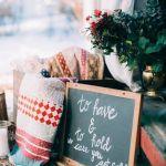 decoración de bienvenida para boda invierno