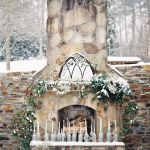 altar de boda invierno