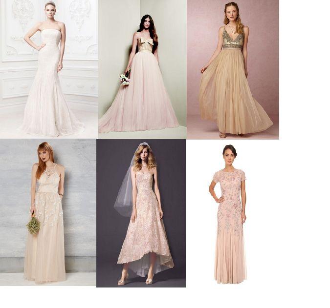 ¡Vestidos de novia en tonos rosa o champan súper económicos!