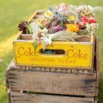 presentación flores vintage para boda