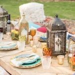 decoración para mesa de banquete marroquí, kozinart