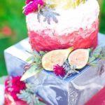 tarta de boda con color en detalle, catering madrid
