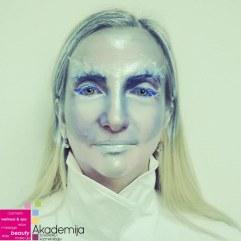 ZIMSKI FANTASY MAKEUP – vežba sa nastave scenske šminke