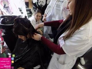 ŠIŠANJE NA JEDNAKU DUŽINU – sa nastave na predmetu Stilizovanje kose
