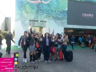 STUDENTI AKADEMIJE PURITY U BOLONJI – međunarodni sajam kozmetike