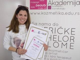 Jelena Zeljković, akademski kurs za ženskog frizera