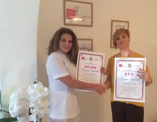 Suzana Samčović, akademski kurs za kozmetičara I nivo