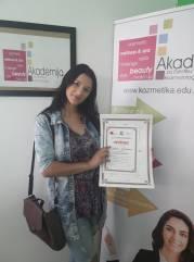 Katica Jovanović, akademski kurs profesionalnog šminkanja