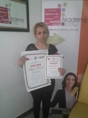 Biljana Basura, akademski kurs profesionalnog šminkanja