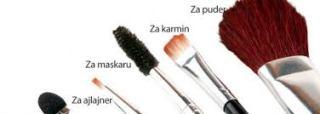 Održavanje četkica za šminkanje