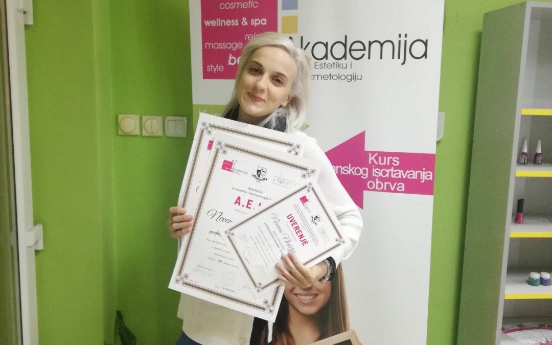 Nevena Nedeljković, kurs profesionalne masaže