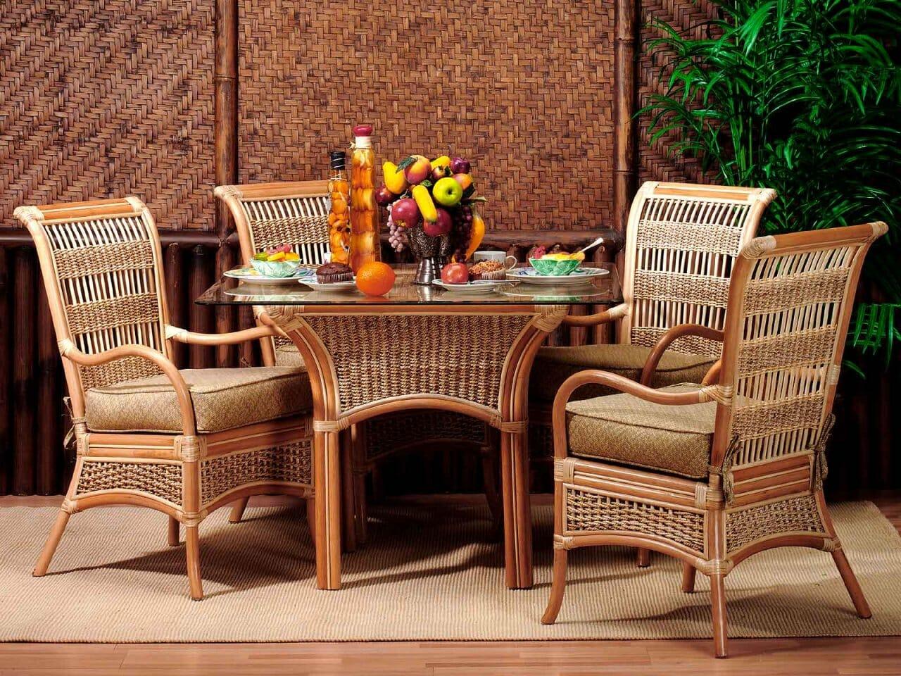 Island Paradise Rattan Dining Set Kozy Kingdom