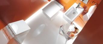 Duravit-Orange-and-white-bathroom-aerial-view