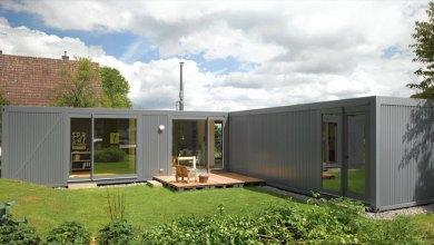 Photo of Kompakt, L-alakú otthon vidéki környezetben Németországból