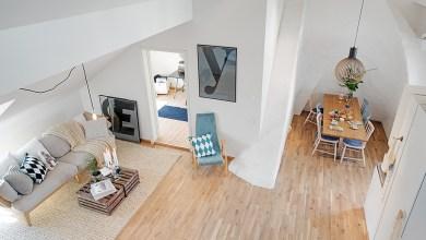 Photo of Svéd elegancia egy 90 négyzetméteres loft lakásban