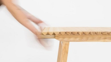 Photo of Érdekes megoldás: összecsavarható asztal