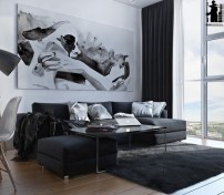 artistic-black-and-white-interior-design-600x525