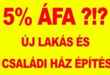 Photo of 5%-os új családi ház ÁFA buktatói (kötelező olvasmány)