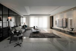 Marble-floor-gives-the-room-a-museum-feel-900x600