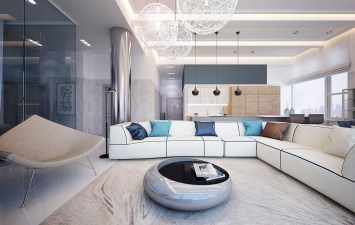 Living-Area-White-Sectional