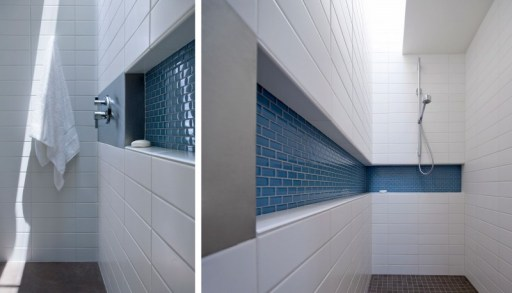 White-and-blue-shower-design