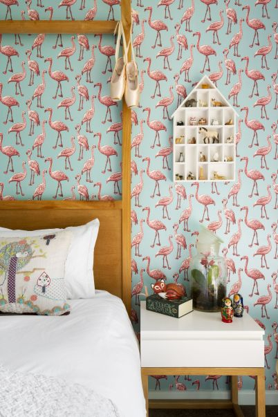 ARRCC-remodeled-residence-adds-a-fun-touch-to-the-room-with-flamingo-wallpaper