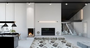 White-fireplace