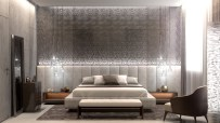 grey-toned-with-pendant-bedroom-gray-accent-wall
