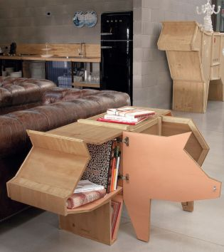 Pig-Decor-Accent-for-Living-room-and-Storage