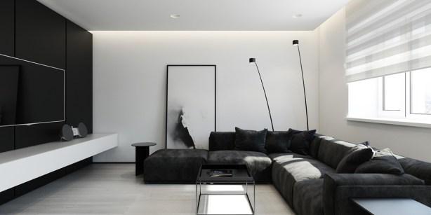 black-block-sofa-white-walls-minimalist-tv-room