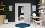 navy-rug-black-wall-contrast-apartment