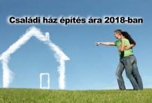Photo of Családi ház építési árak 2018-ban