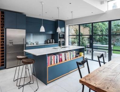 Blue-modern-kitchen