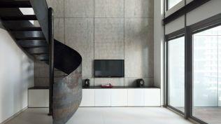 Minimalist-Duplex-Nam-by-gerstner-featuring-a-spiral-staircase