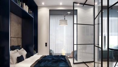 Photo of 50 négyzetméteres lakás kékben