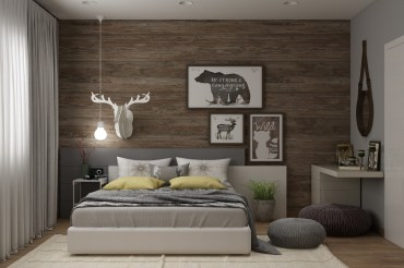 Motivational-art-modern-rustic-bedroom