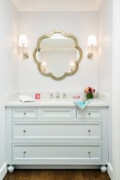 Metalic-flower-mirror-for-poweder-room