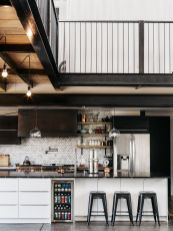 Shipping-Container-Home-kitchen-featuring-a-honeycomb-backsplash
