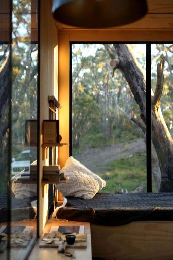 Tiny-Off-Grid-Cabin-Cozy-nook