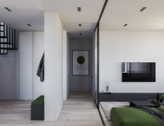 White-and-green-interior